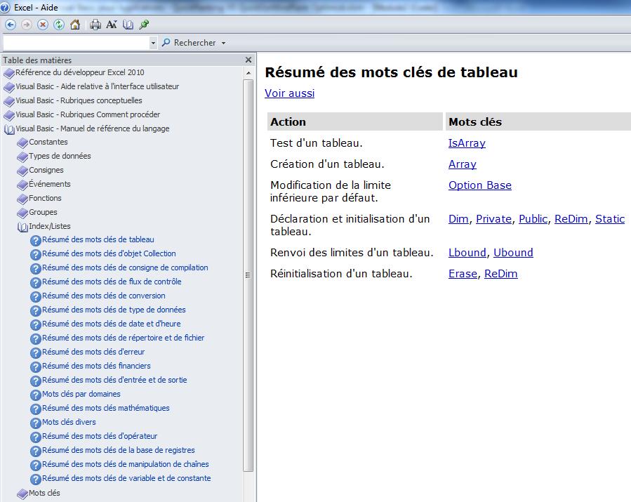 Memento Sur La Programmation En Vba Pour Excel Tome 1